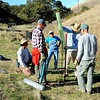 "Riparian tree restoration project. <br /> Workday by SMD staff and volunteers. <br /> ""Ang"" property, Irish Canyon. <br /> East Bay Regional Park District. <br /> Nov. 18, 2017"