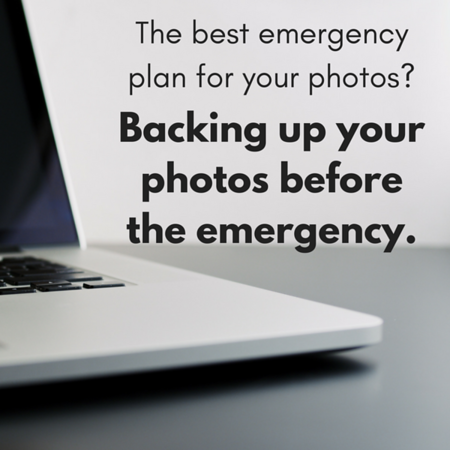 Back up before the emergency Social Graphic Square