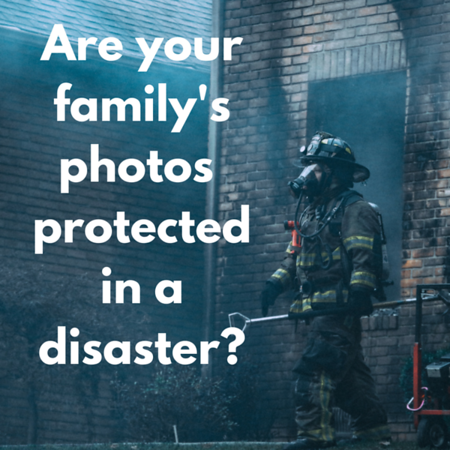 Are your family's photos protected in a disaster Social Graphic Square