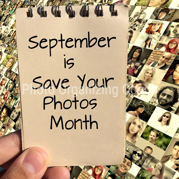 September is Save Your Photos Month Social Graphic Square
