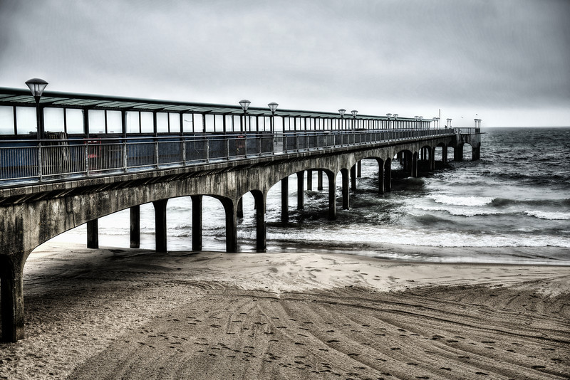 The wave-lashed pier