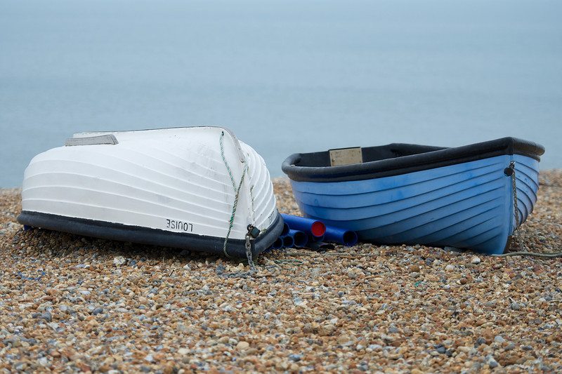 Rowing boats at rest