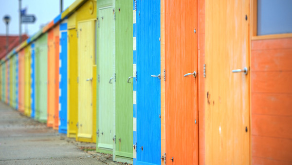 Staggered Beach Huts