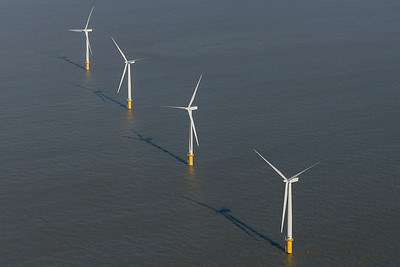 Turbines in a row