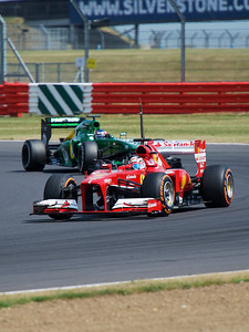 Ferrari and Caterham