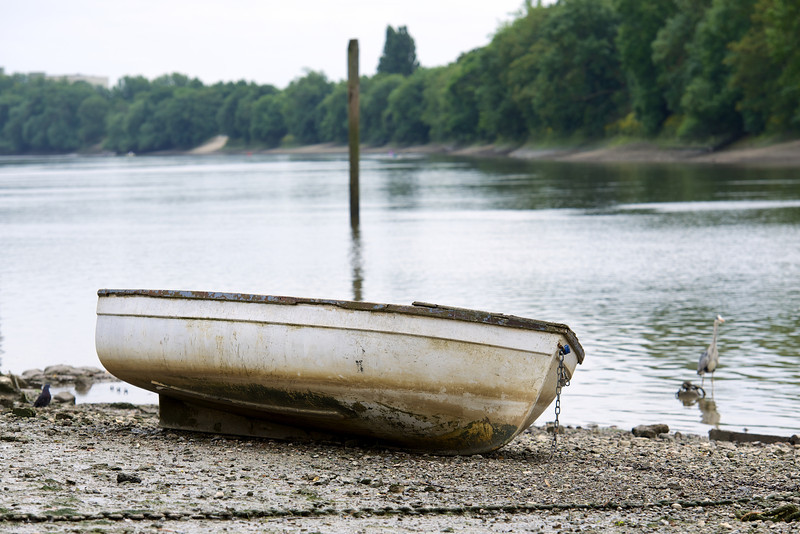Dinghy out of water