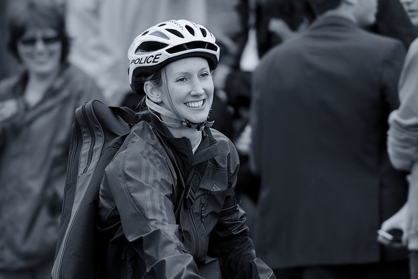 Smiling Police Cyclist