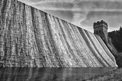 At the foot of the dam