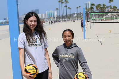 U.S. Naval Cadet volleyball players