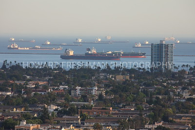 Oil tankers off Long Beach