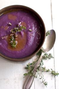 purple sweet potato soup