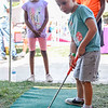 BEN MIKESELL | THE GOSHEN NEWS<br /> Cayson Horvath, 4, of Goshen at the Middlebury Public Library tent.