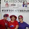 AIMEE AMBROSE | THE GOSHEN NEWS <br /> (from left) Sandy Coy, Goshen, Tana Franklin, Wawaka, and Donna Hackett, Goshen