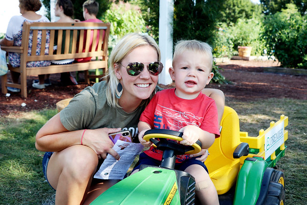 AIMEE AMBROSE | THE GOSHEN NEWS <br /> Jessi Loucks, Elkhart, with her son Rhys, 2