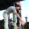 KRIS MUELLER | THE GOSHEN NEWS<br /> Jake Owen shakes hands with some Very excited fans at the Elkhart County 4-H Fair Monday night.