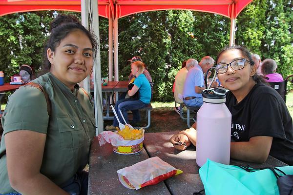 AIMEE AMBROSE | THE GOSHEN NEWS <br /> Estefania Soto, Goshen, and Arleth Martinez, Goshen