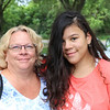 JOHN KLINE | THE GOSHEN NEWS<br /> Kathy Grant and Lauren Grant, 14, both of Goshen