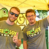 BEN MIKESELL | THE GOSHEN NEWS<br /> Carl Stutsman, left, and Bryce Stopher, with Froggy 102.7.