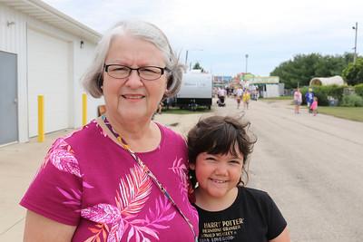 JOHN KLINE   THE GOSHEN NEWS Annetta Ropp, Elkhart, with granddaughter Annie Blystone, 9, Indianapolis
