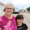 JOHN KLINE | THE GOSHEN NEWS<br /> Annetta Ropp, Elkhart, with granddaughter Annie Blystone, 9, Indianapolis