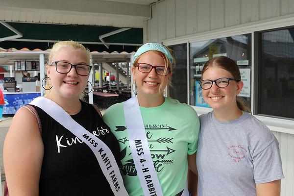 JOHN KLINE | THE GOSHEN NEWS<br /> Alexis Griman, Elkhart, with Andelisia and Amanda Henry, both of Osceola