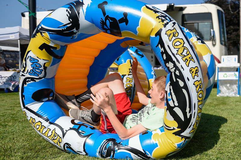 BEN MIKESELL   THE GOSHEN NEWS Cory Cook, 13, of Elkhart, competes in kid's day activities Wednesday morning.