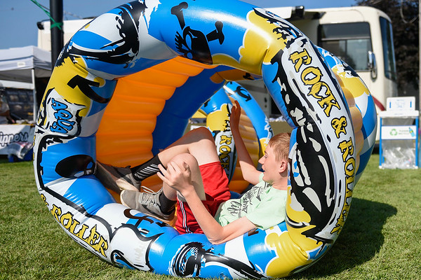 BEN MIKESELL | THE GOSHEN NEWS<br /> Cory Cook, 13, of Elkhart, competes in kid's day activities Wednesday morning.
