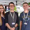 BEN MIKESELL | THE GOSHEN NEWS<br /> Heidi Porod, left, Ian Smith, center, and Noah Nisen, right, all environmental technician interns with Elkhart County Health Department.