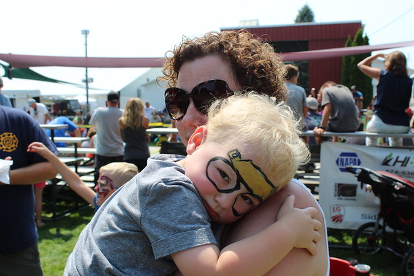 CAMDEN CHAFFEE   THE GOSHEN NEWS<br /> Stephanie Santa and her son Zeke.