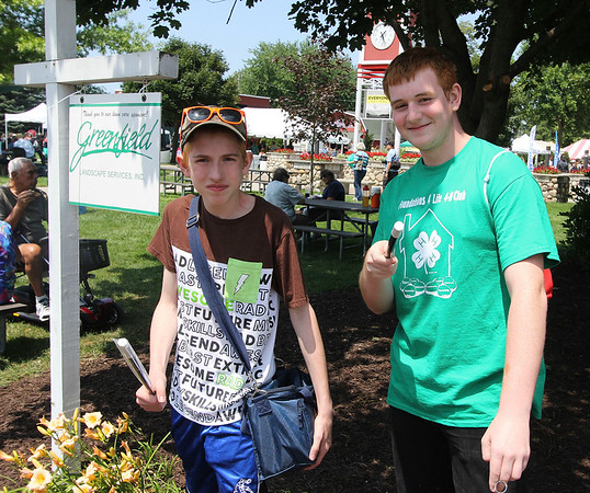 AIMEE AMBROSE | THE GOSHEN NEWS <br /> (from left) Forchel Francis, 14, Goshen, and Aaron Marshall, 15, Goshen
