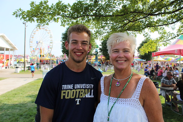 CAMDEN CHAFFEE | THE GOSHEN NEWS<br /> Kathy Yoder and her son Jacob