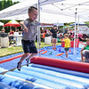 BEN MIKESELL | THE GOSHEN NEWS<br /> Bo Hamood, 5, of Elkhart, competes in the Inspire Athletics obstacle course Wednesday afternoon.