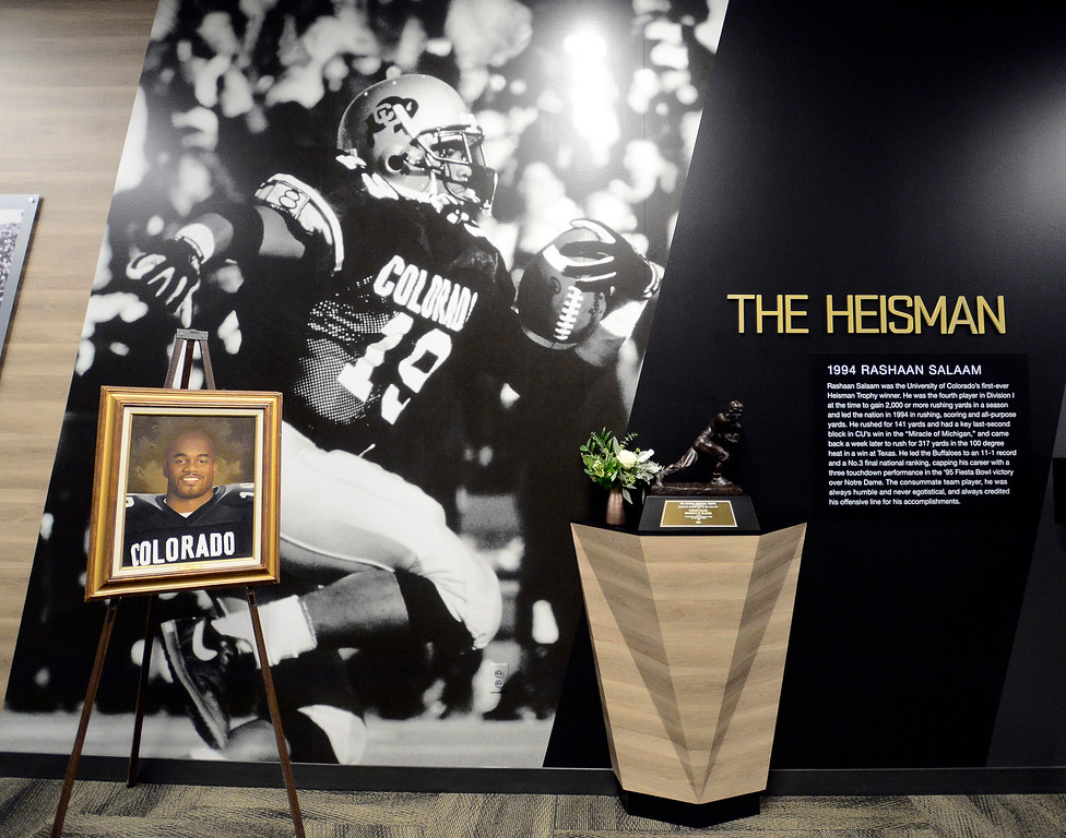 Rashaan Salaam in The CU Legacy Hall