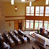 SCJs gathered in Good Shepherd Chapel at Sacred Heart at Monastery Lake