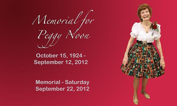 Peggy Noon Memorial