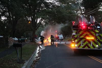 Car Fire - 140 Melville Dr. Fairfield, CT - 9/28/2020