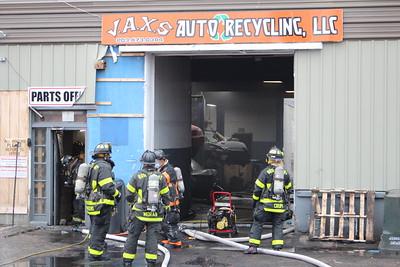 Vehicle Fire Inside Structure - 14 River St, Bridgeport, CT - 1/19/21
