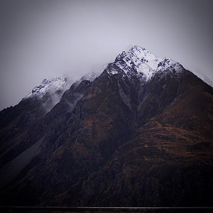 Mountain range, Aoraki/Mt Cook National Park, South Island, New Zealand