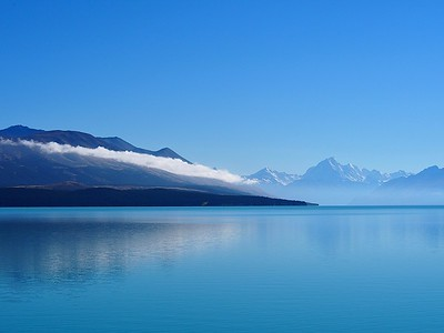 Aoraki/Mt Cook and Lake Pukaki, South Island, New Zealand