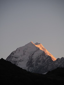 Aoraki/Mt Cook at sunrise, South Island, New Zealand