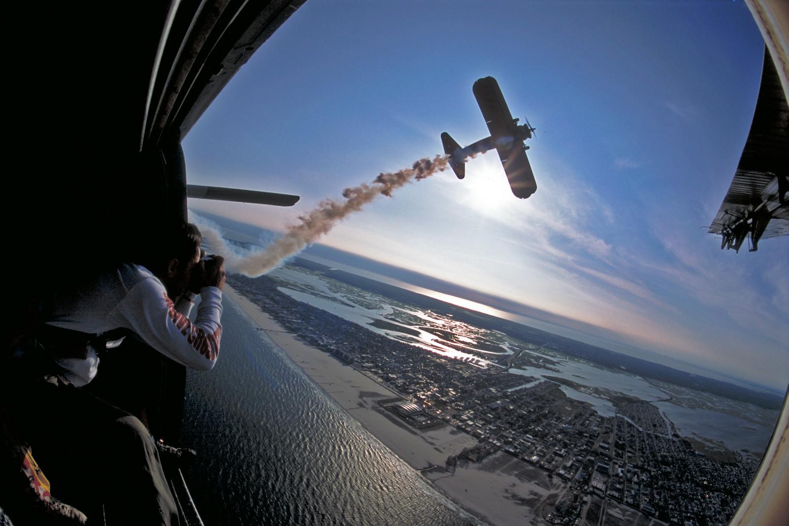 Stearman Biplane Over Wildwood NJ
