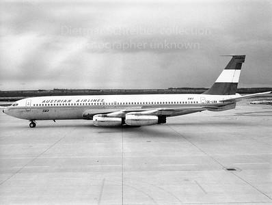 OE-LBA Boeing 707-300 Austrian Airlines