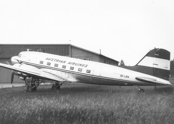 OE-LBN Douglas DC3 Austrian Airlines