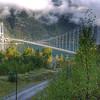 Beautiful new bridge across Hardangerfjord