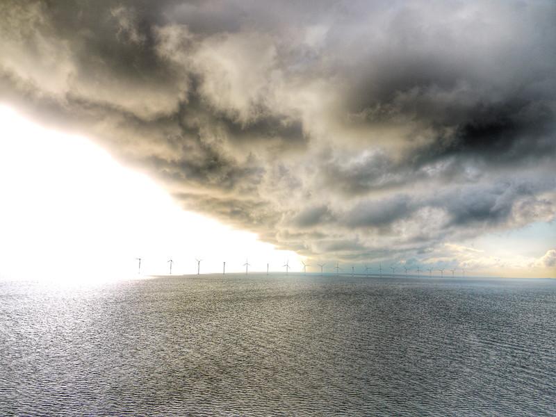 Wind turbines off Copenhagen