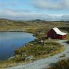 Farmhouse on treeless plateau, between Bergen and Oslo.