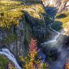 Two waterfalls.