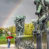 Angelo's rainbow:  Oslo's Frogner Park.