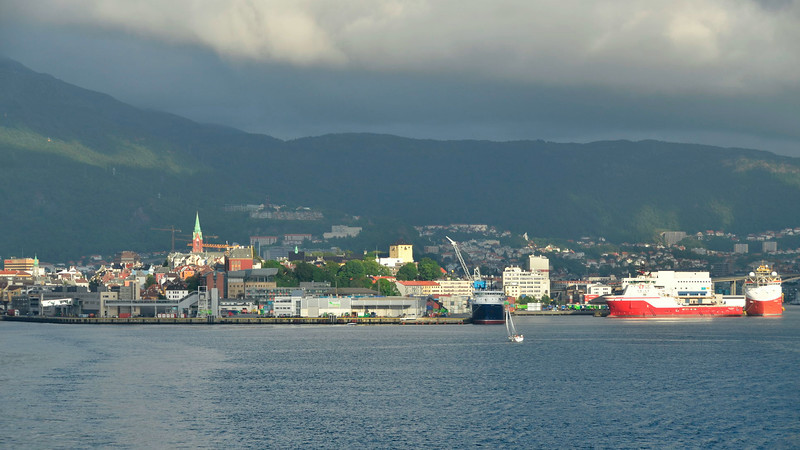 Nice light looking back at Bergen