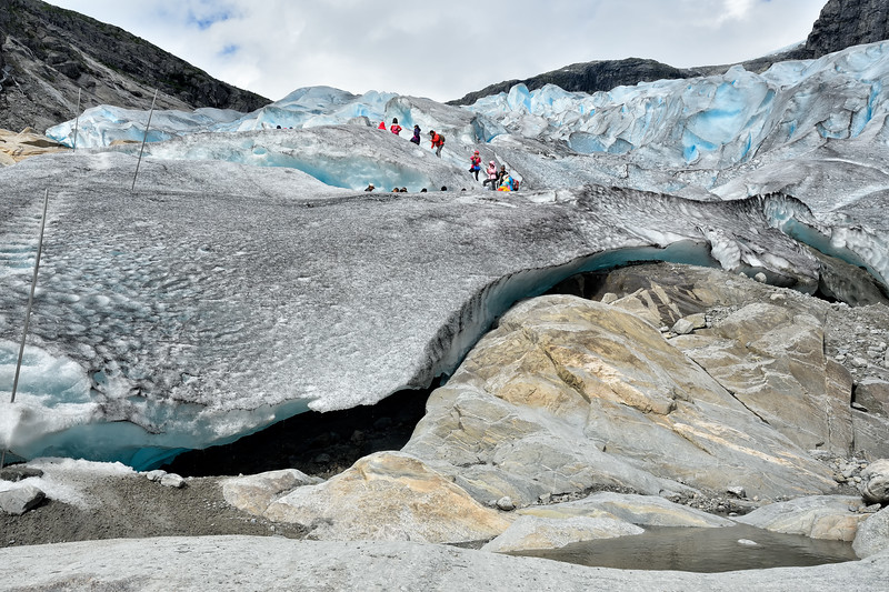 Next to the Nigardsbreen glacier, one of the most accessible glaciers in southern Norway